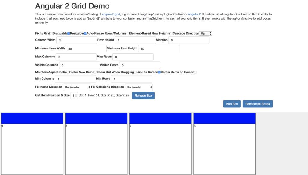 grid angular components