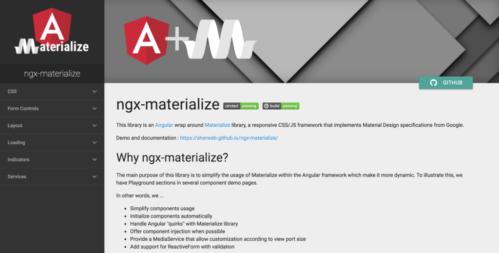 ngx materialize angular components