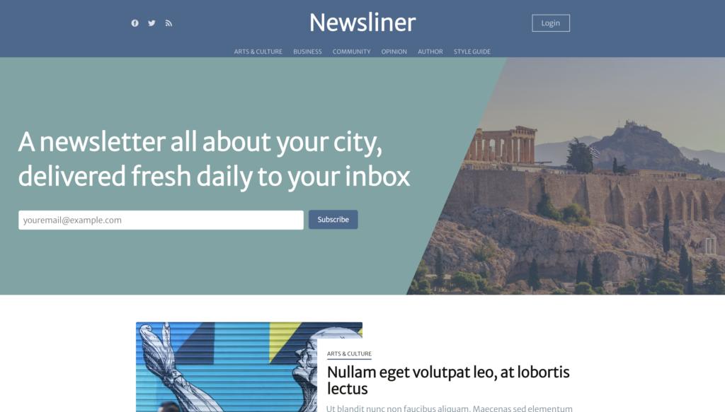 newsliner ghost theme