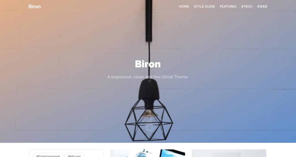 biron ghost theme