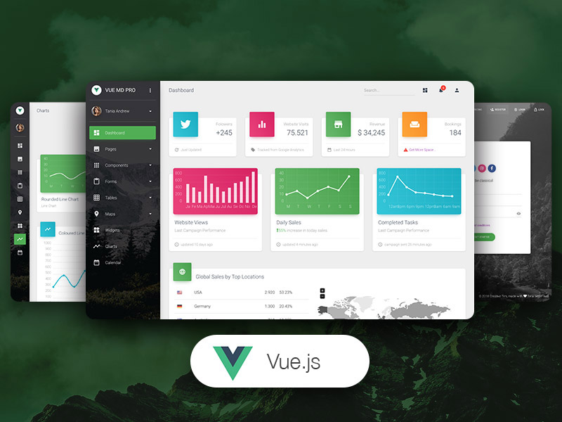 Vue Material Dashboard PRO