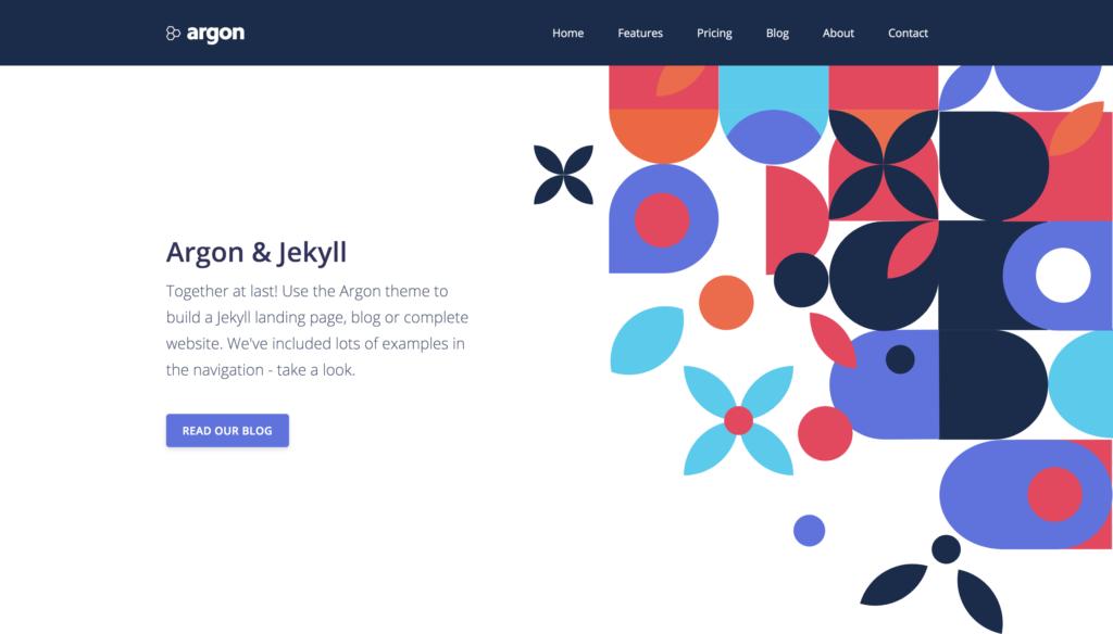 argon jekyll theme preview