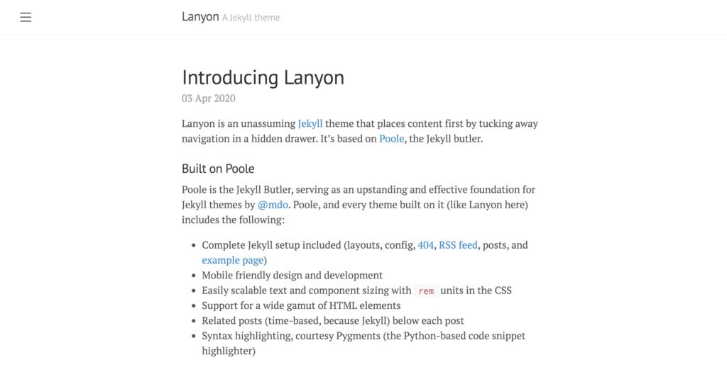 layon theme preview