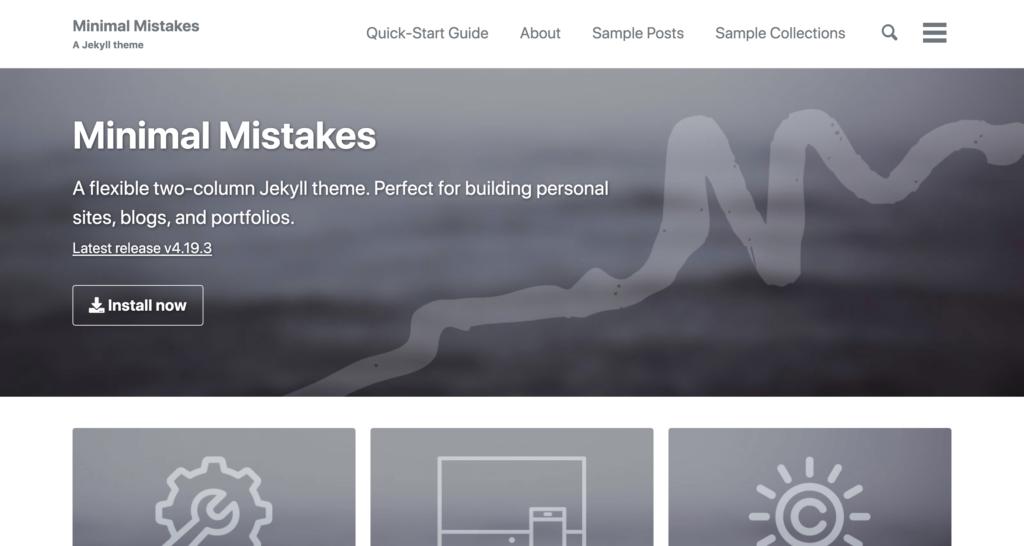 minimal mistakes theme preview