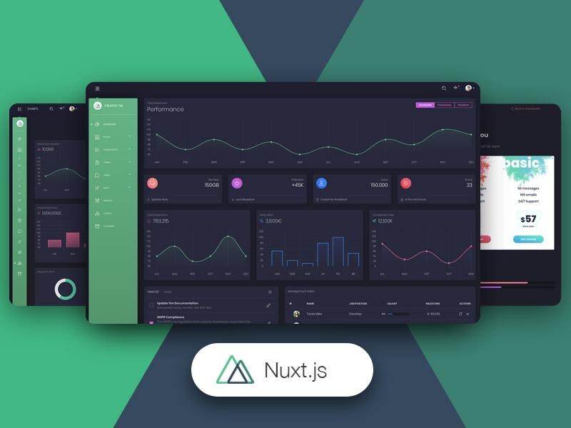 Nuxt Black Dashboard PRO