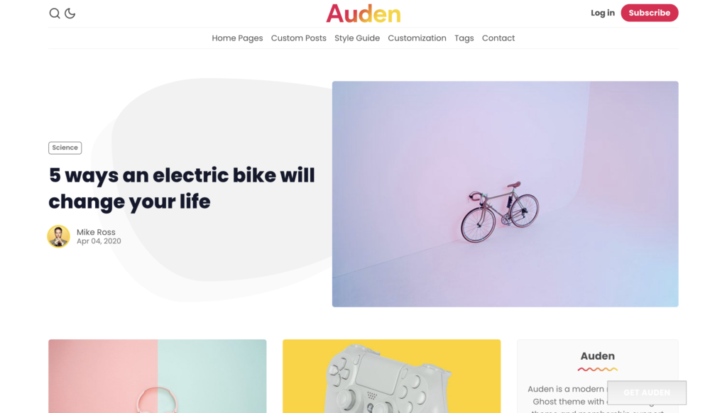 auden ghost theme