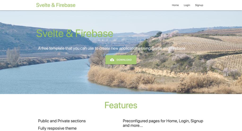 svelte and firebase