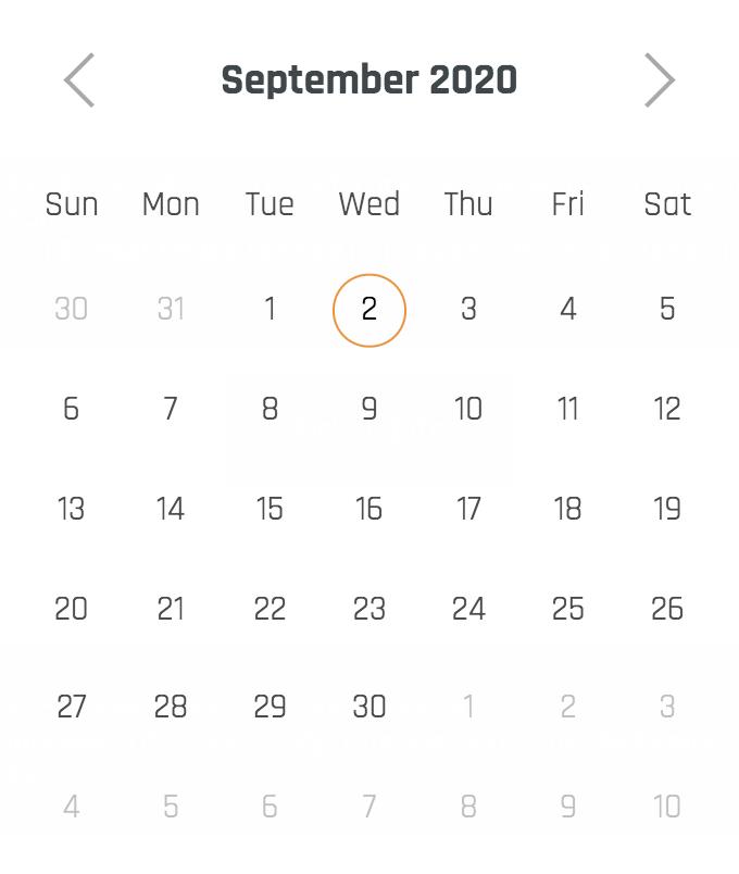 svelte calendar