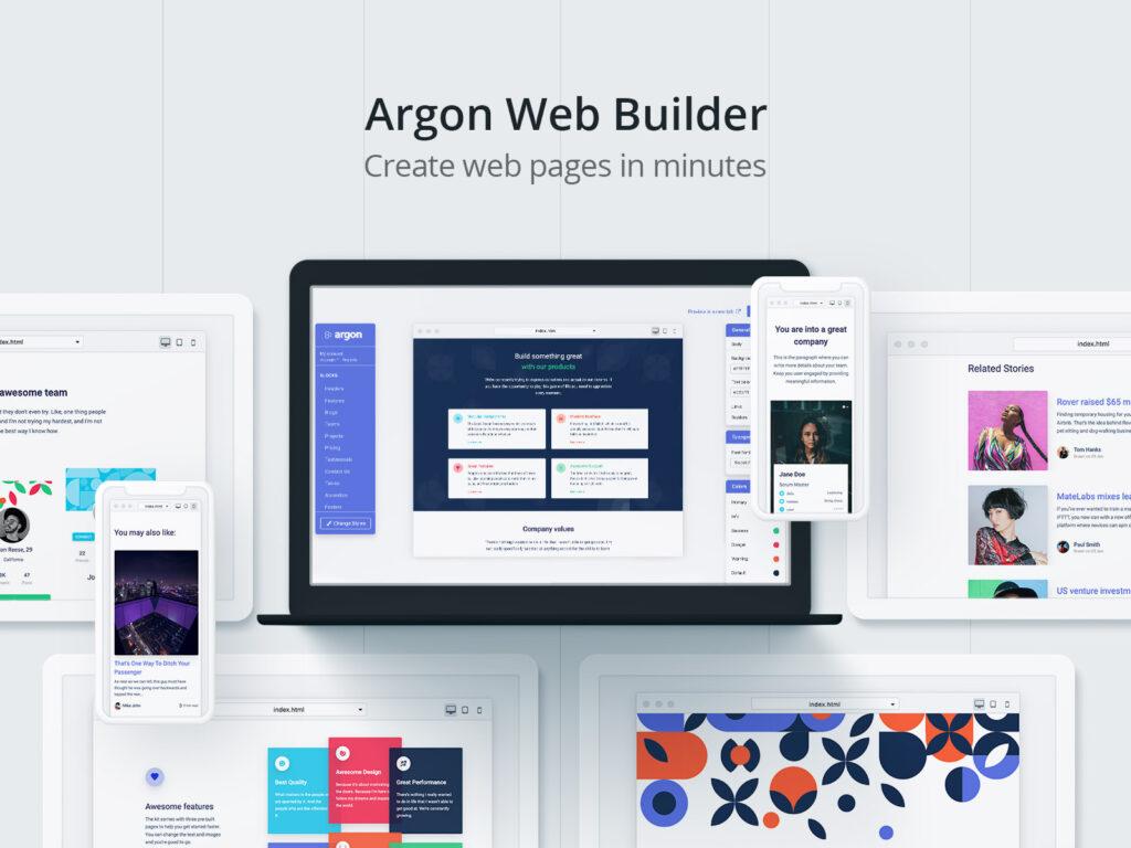argon web builder