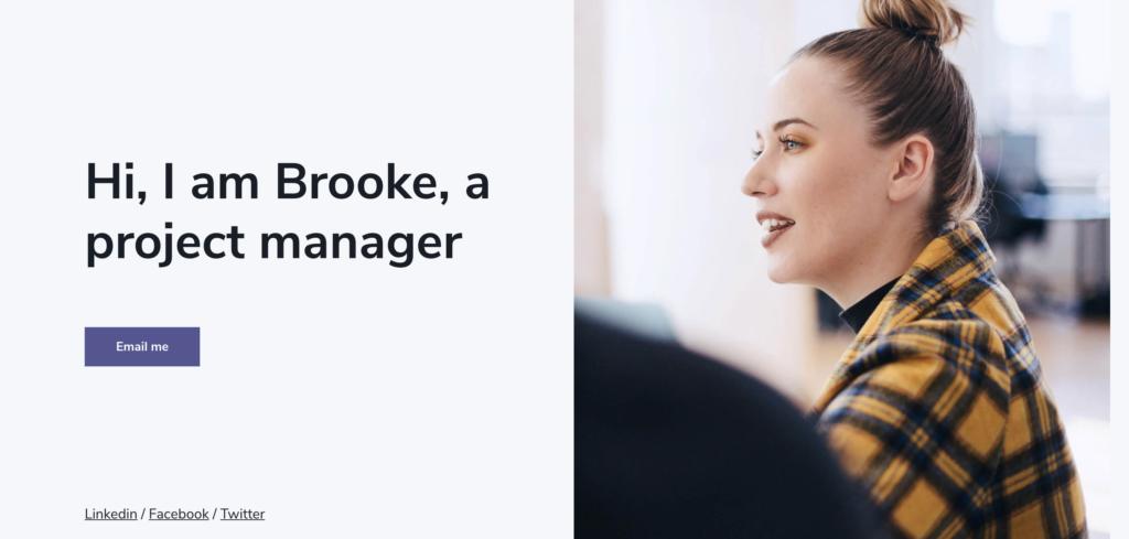brooke website template