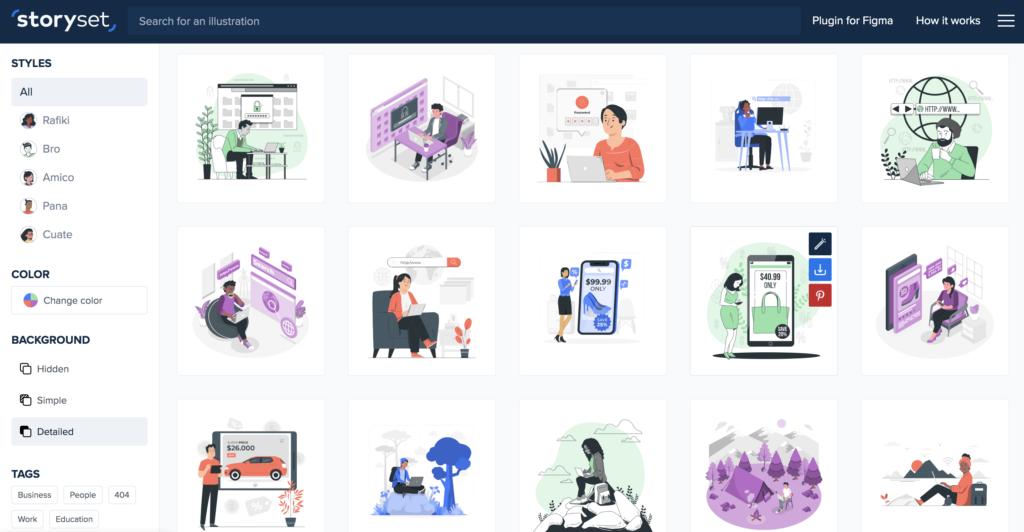 storyset illustration tool