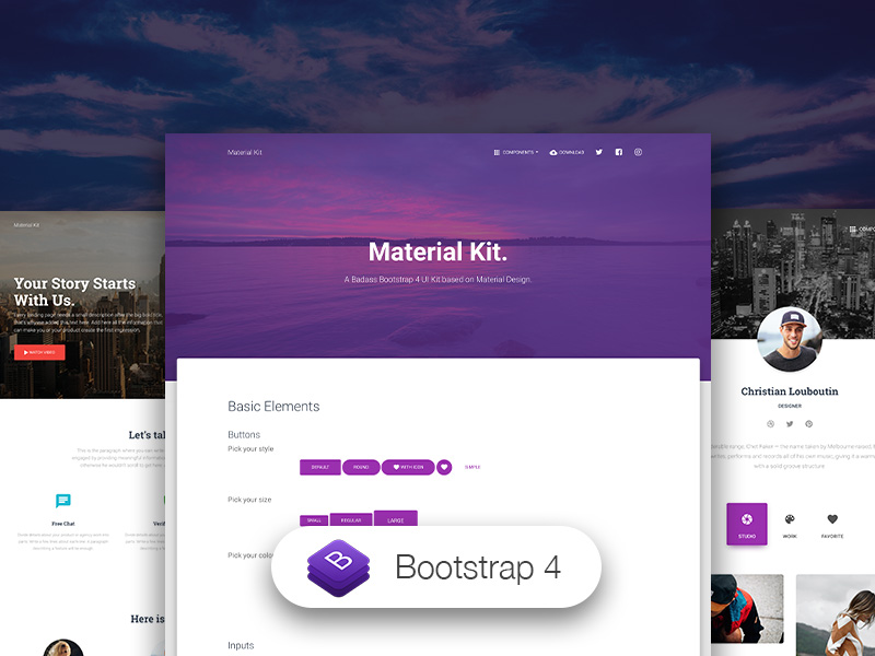 material kit template with sketch